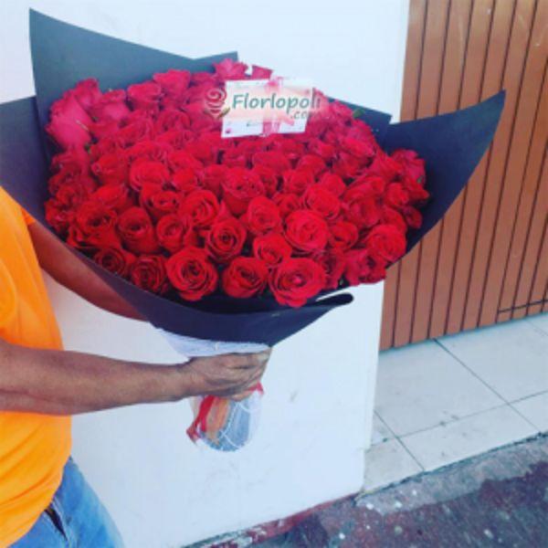 Ramo de 100 Rosas Rojas