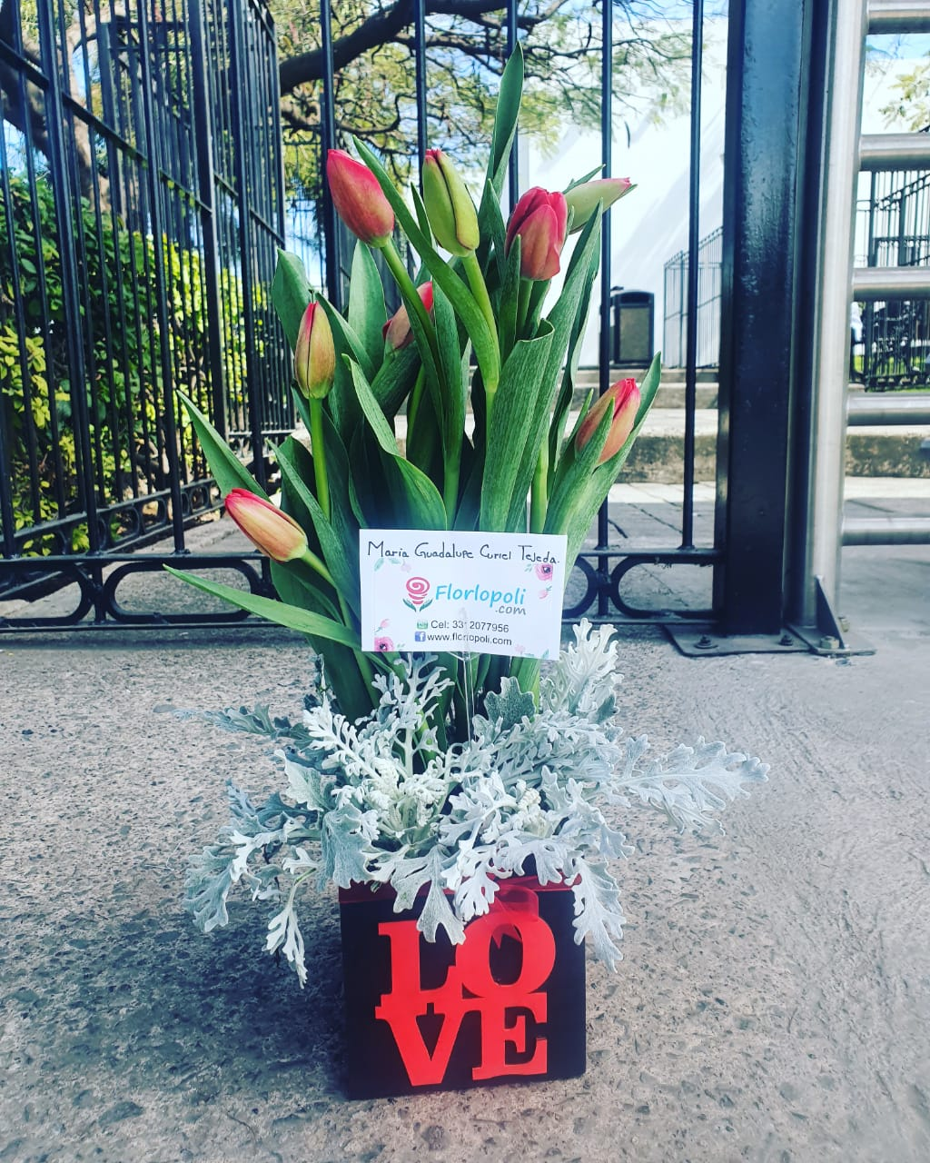 Diseño floral de tulipanes