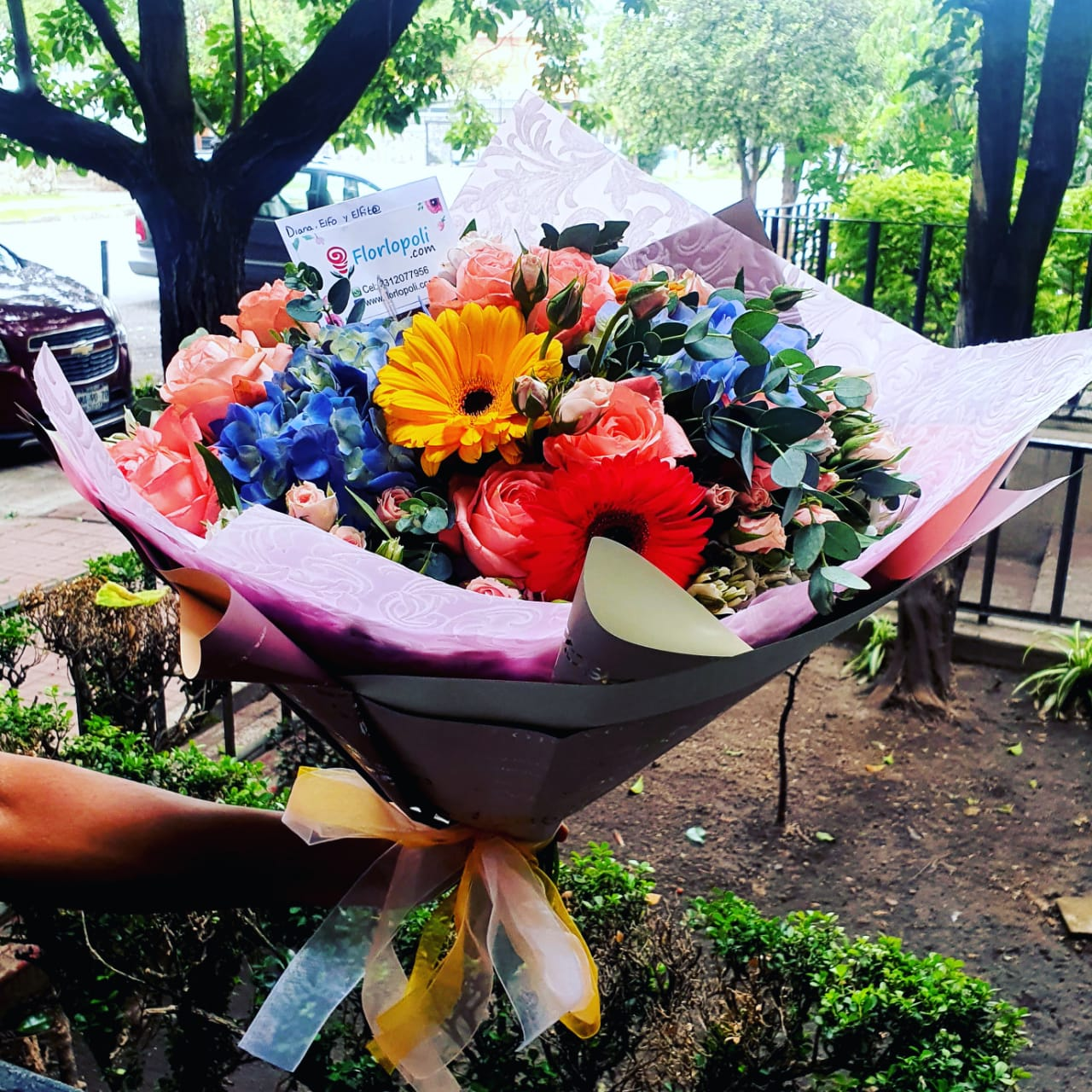 Ramo floral surtido vintage