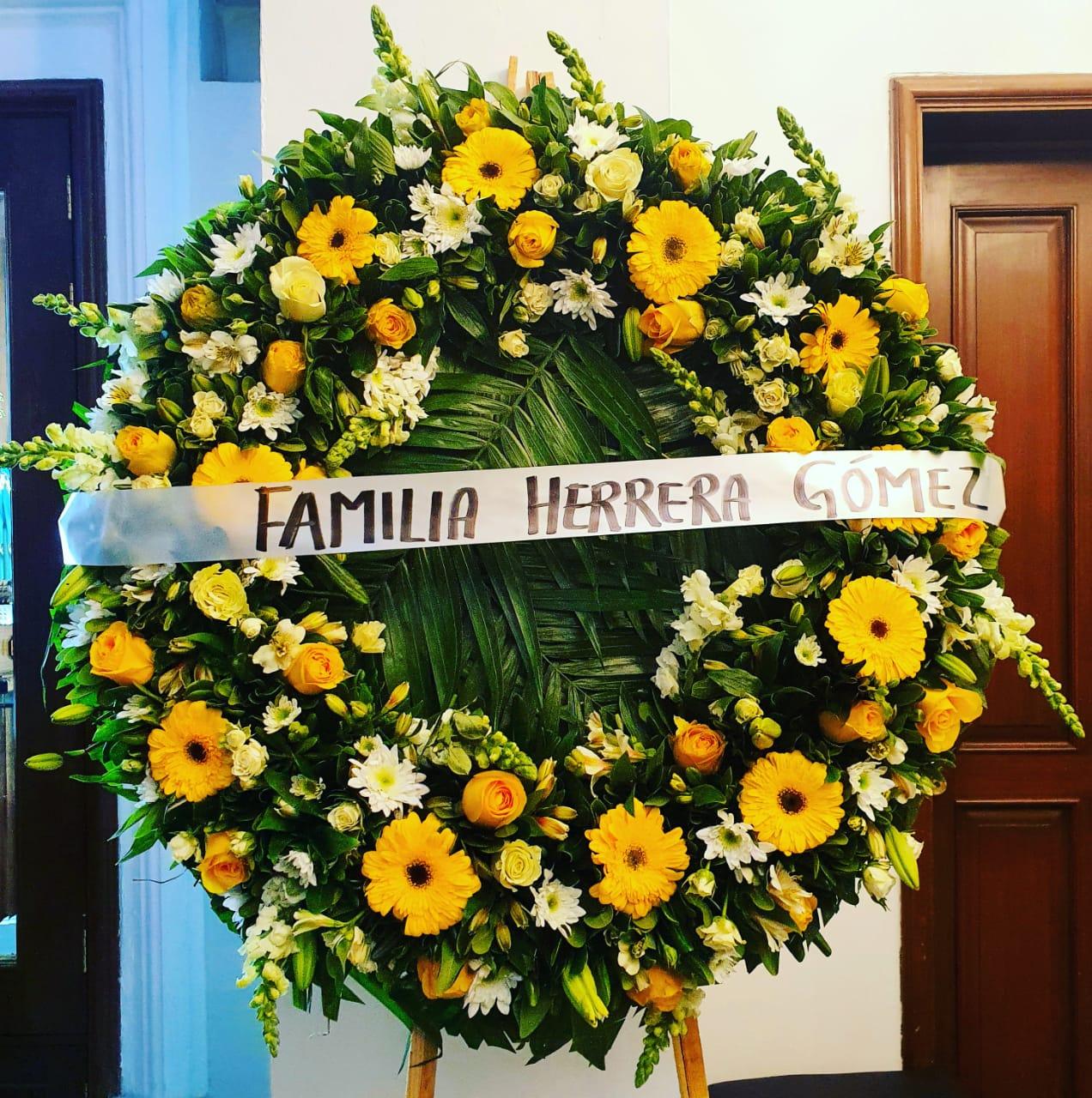 Corona Flores Amarillas Fúnebre