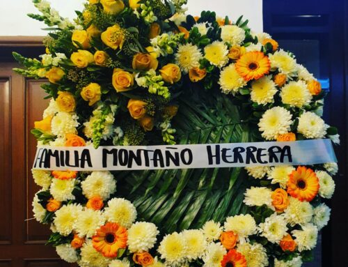 Corona Funebre Rosas Amarillas Copete