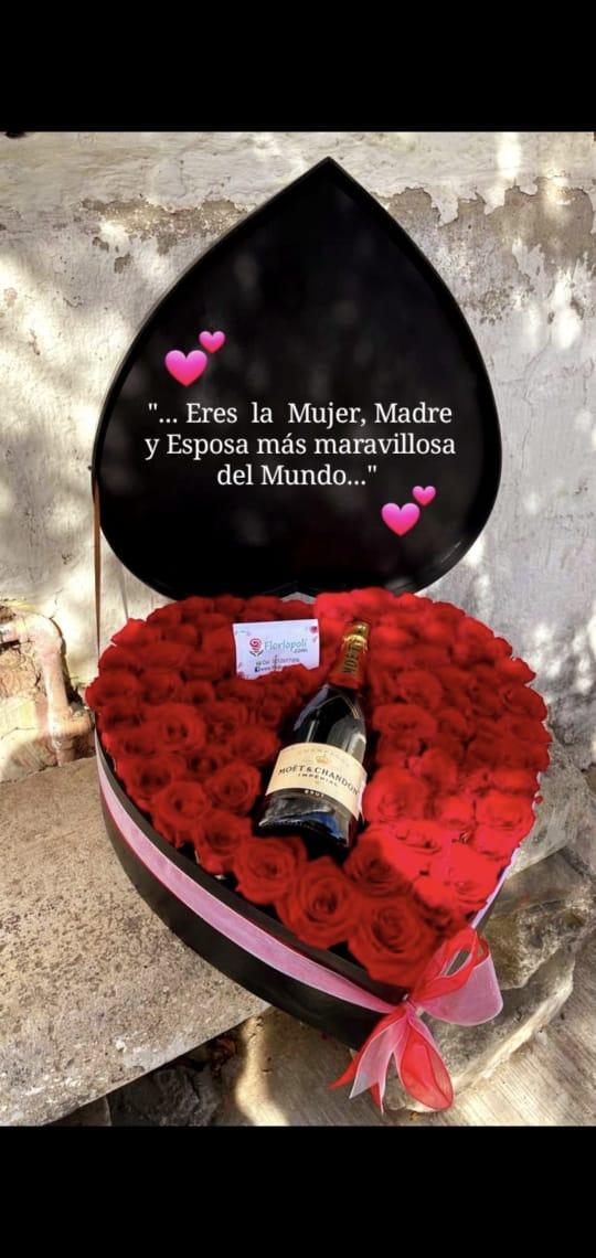 Fino Corazon de Rosas con Botella de Moet