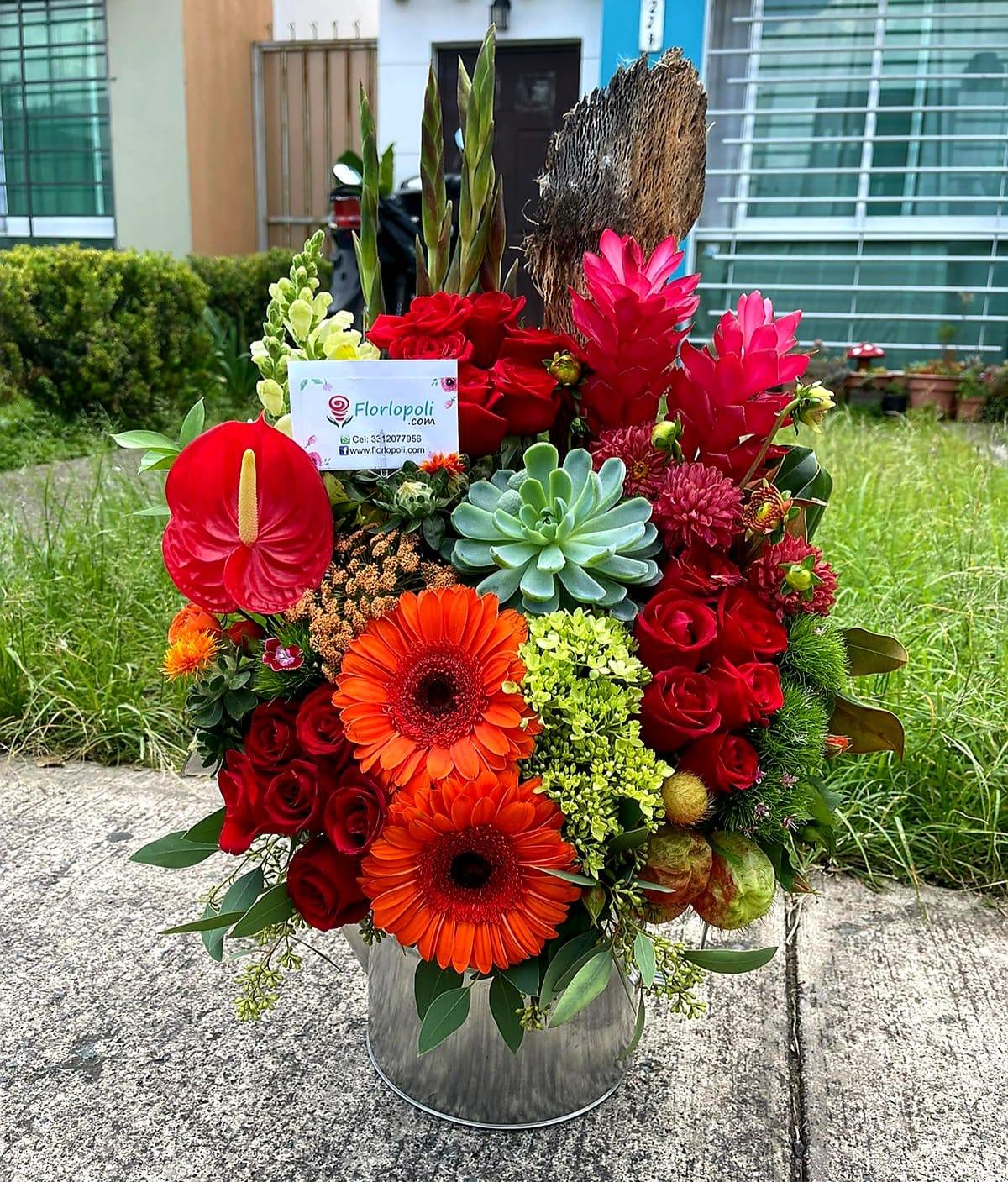 Hermoso Diseño Floral Colorido